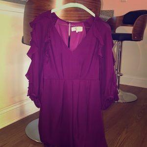 Tibi ruffle silk dress